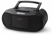 Sony CFD-S70 CD and Cassette Boombox Black FM AM radio unbox Cd Not Working