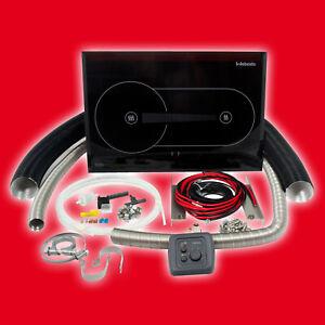 Webasto Dieselkocher X100 WA90000B mit Einbaukit für Wohnwagen Reisemobil Camper