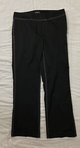 Adidas Women's ClimaCool Flat Front Stretch Golf Pants w/ Rollup Cuffs Size 10
