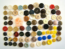 Lot of 85 Vintage Buttons - Small to Medium - Hard to Find Pieces