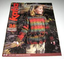KATIA F/W CHILDRENS knitting yarn pattern book #39 with 35 Designs