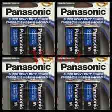 8 Pcs Panasonic 9 Volts (9V) Battery Batteries Super Heavy Duty Zinc Carbon