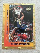 """CHRIS WEBBER ROOKIE ODD BALL 1993 """"GOLD"""" SPORTS EDITION COLLEGE BASKETBALL RC"""