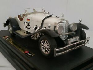 1/24 MERCEDES BENZ SSK 1928 COCHE DE METAL A ESCALA SCALE CAR DIECAST