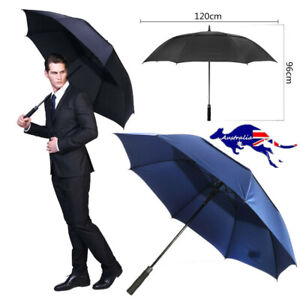 Automatic Open Strong Golf Umbrella Extra Large Oversize Double Canopy Vented AU