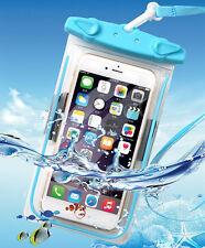 NUOVO IMPERMEABILE SUBACQUEO fluorescente custodia / coperchio / Borsa Bracciale per iPhone Samsung