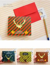 3*Christmas Gift Greeting Cards Love Party Event Wish Card Envelope Family Xmas