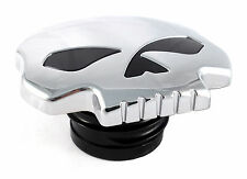 Chrome Skull Gas Cap Vented Fuel Cap for Harley XL & Big Twin Gas Tank Cap 84-15