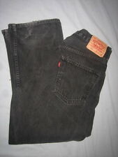 LEVI'S 550 RELAXED BLACK DISTRESSED JEANS SIZE 34(32)X29(28) MEASURED XLNT COND
