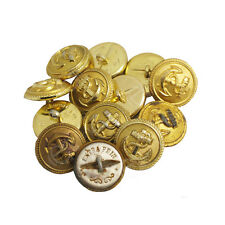 12 GERMAN KRIEGSMARINE NAVY GOLD BUTTONS - Large Military Anchor Sailor 22 23mm