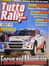 Tutto Rally Più 179 1999 Inteviste Juha Kankkunen, Tom Radstrom. Test Alfa Q103]