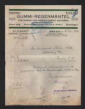 BERLIN, Brief 1925, Elegant Bekleidungs-GmbH Gummi-Regenmäntel