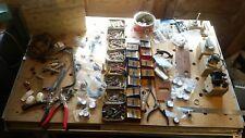 Vintage Radio repairer kit Joblot Electronic  Replacement parts Handle Knobs etc