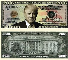 Welcome President Trump Federal Victory Note 2016