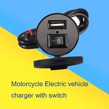 12V à 5V 1,5 A Étanche Moto USB Chargeur Portable Adaptateur+ Interrupteur