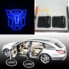 2x Transformers Autobots Car door LED logo shadow laser welcome light projector
