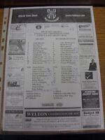 26/07/2005 Teamsheet: Lincoln City v Rotherham United [Friendly] (folded, match