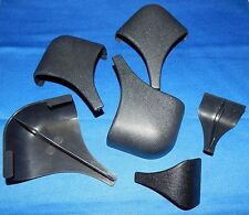 Set Of 4 Ebonite Wide Billiard Pool Table Black Plastic Miter Rail Cap Parts