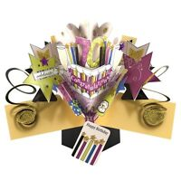70th Birthday Pop-Up Greeting Card Original Second Nature 3D Pop Up Cards