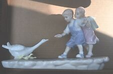 The Valencia Collection By Roman, Inc: Children Feeding A Duck Or Goose