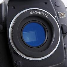 M42 Screw Lens For Nikon F Mount Camera Adapter Ring With Glass Focus Infinit