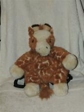 "Plush Stuffed Giraffe Backpack 16"" Tall Jungle Theme"