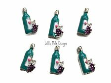Wine Bottle Floating Charm for Living Memory Locket Food and Drink Charms