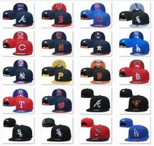 New Embroidered MLB Team Baseball Cap Flat Brim Sun Hat Outdoor Sports Unisex
