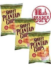 🔥 X3  UNID Trader Joe's Sweet Plantain Chips !!! NEW
