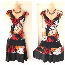 Gorgeous Frank Kyman Multi Colour Stretchy Floaty Dress Size 16
