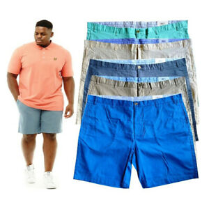 Mens Big King Size Stretch Summer Chino Half Pant Shorts In 5 Colours 42-54