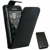 black Leather phone Case Card Slots for Samsung Galaxy Ace GT-S5830 / GT-S5830i