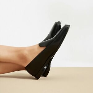 $160 Everlane The 90s Loafer in Black Italian Leather Size 8.5 WORN ONCE