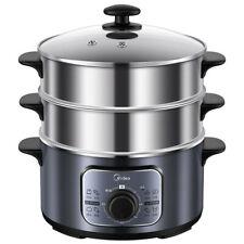 Food Steamer Multi-functional 10 Liter Stainless Steel 3-tier Adjustable Timer F