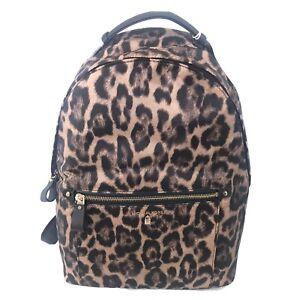 Michael Kors Nylon Kelsey Large Travel Backpack Leopard Black Brand New NWT