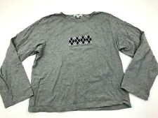 Tommy Hilfiger Shirt Women's Size Extra Large XL Gray Long Sleeve Tee Round Neck