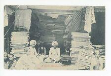 Cloth Merchant Shop—Antique INDIA SIHKS Store Textile Carpet—Sea Post Office '06