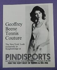 Geoffrey Beene Tennis Couture at Pindisports - Original 1980s  Magazine Advert
