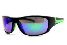 Eyelevel Sports Rebel Sport Sunglasses Mirror Lenses Black Green Frame