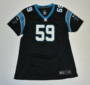 NFL NIKE AUTHENTIC Carolina Panthers Black Luke Kuechly #59 Jersey Women XL B31