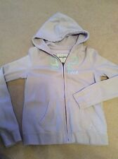 Abercrombie and Fitch girls pale lilac zipped hoodie size XL