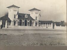 Antique Photograph of State Bath House Lynn Massachusetts Beach Early 1900s
