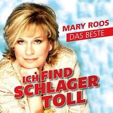 MARY ROOS - ICH FIND SCHLAGER TOLL-DAS BESTE   CD NEU