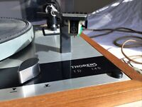 Thorens TD 145 Turntable Record Player w/Cover Audio Technica Cartridge Works