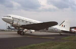 35mm Aircraft Slide RAFTC G-AMPZ (KN442) Douglas C-47 Skytrain 1998 Fairford #1