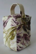 Laura Ashley Gosford plum hand made doorstop