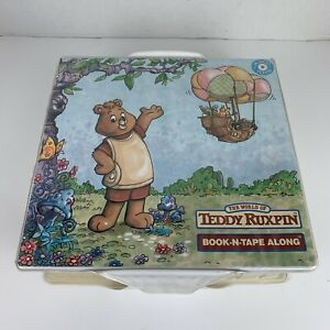 Vtg Teddy Ruxpin 1985 Book N Tape Along Carry Case Books Cassettes Complete EUC