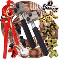 "Land & Range Rover 3/16"" SAE DIN Copper Nickel Kunifer Brake Pipe Repair Kit"
