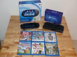 Sony Playstation PS Vita Konsole + Preorder Pack + Spiele + Leder-Case