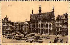 Belgien 1940 1 Fr. karmin mit dt. Militär Zensur auf CPA AK Brüssel Bruxelles